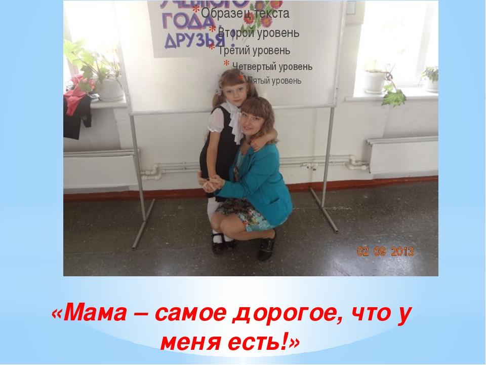 «Мама – самое дорогое, что у меня есть!»