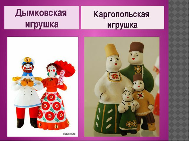Дымковская игрушка Каргопольская игрушка
