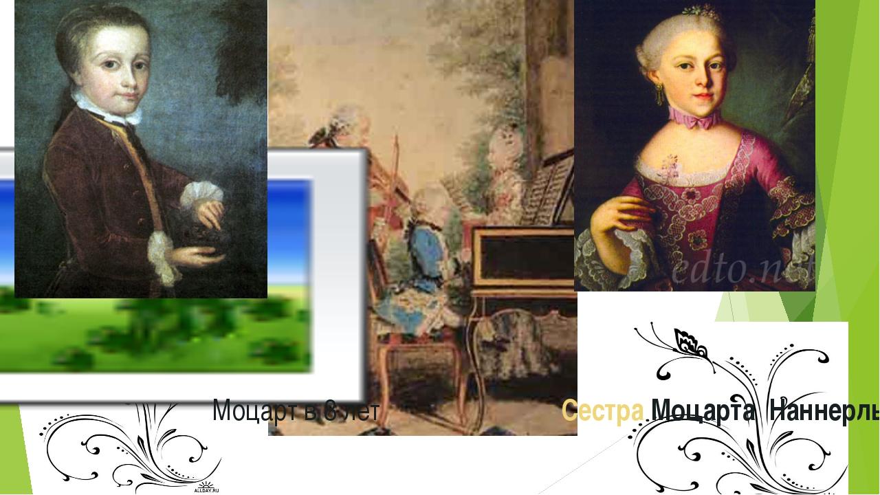 Моцарт в 8 лет Сестра Моцарта Наннерль