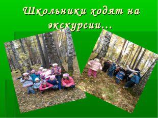 Школьники ходят на экскурсии…