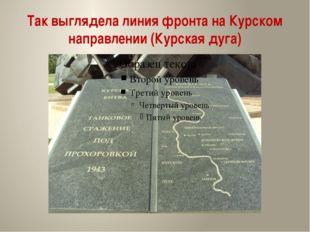 Так выглядела линия фронта на Курском направлении (Курская дуга)