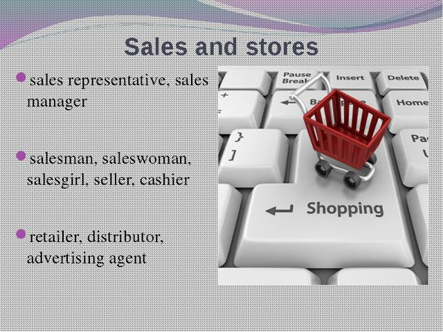 Sales and stores sales representative, sales manager salesman, saleswoman, sa...