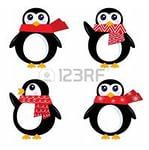 Симпатичные пингвины вектор на белом фоне. Вектор Клипарты, векторы, и Набор Иллюстраций Без Оплаты Отчислений. Image 11659825.