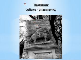 Памятник собаке - спасителю. Недалеко от Парижа (Франция), в самом центре соб