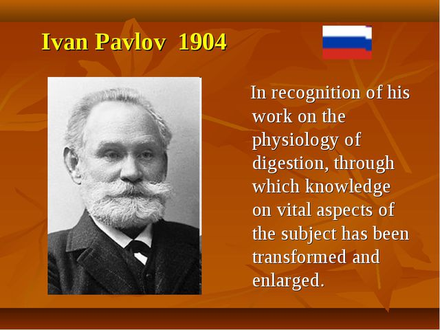 In recognition of his work on the physiology of digestion, through which kno...
