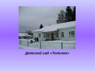 Детский сад «Тополек»