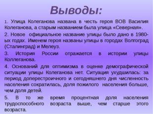 1. Улица Колеганова названа в честь героя ВОВ Василия Колеганова, а старым н