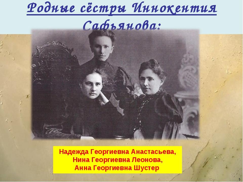 Родные сёстры Иннокентия Сафьянова: Надежда Георгиевна Анастасьева, Нина Геор...