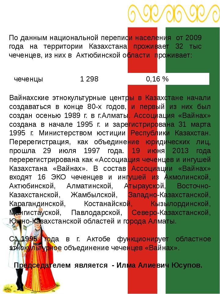 По данным национальной переписи населения от 2009 года на территории Казахста...