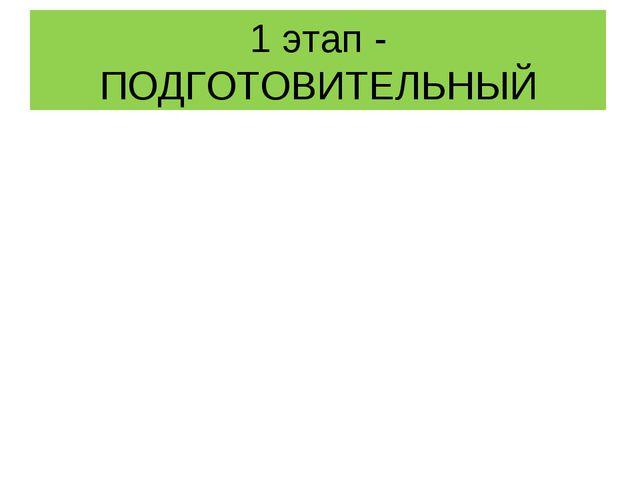 1 этап - ПОДГОТОВИТЕЛЬНЫЙ