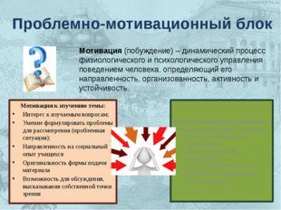 Мотивация к изучению темы: Интерес к изучаемым вопросам; Умение формулироват