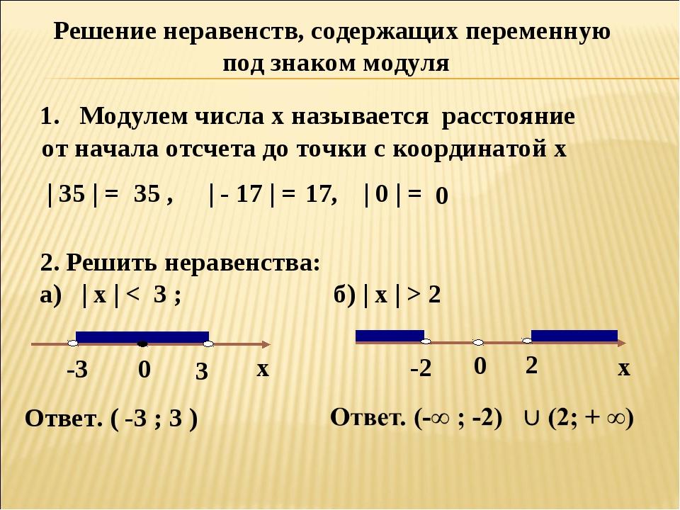 Решение Линейных Неравенст Под Знаком Модуль
