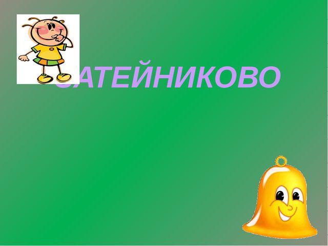 ЗАТЕЙНИКОВО