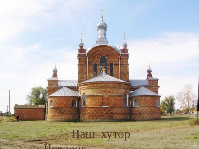 Наш хутор Чекалов.