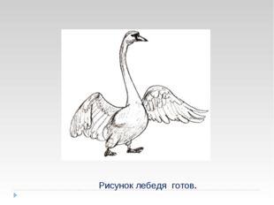 Рисунок лебедя готов.