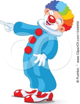 Illustration Of Scary Halloween Clown (showing) Клипарты, векторы, и Набор Иллюстраций Без Оплаты Отчислений. Image 8077402.