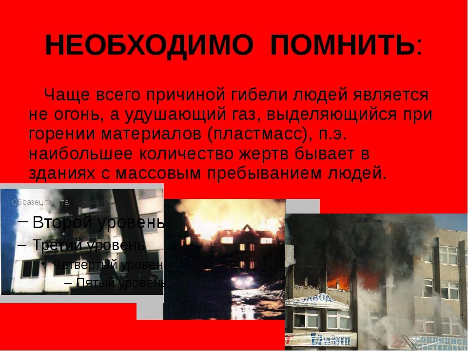 НЕОБХОДИМО ПОМНИТЬ: Чаще всего причиной гибели людей является не огонь, а уду...