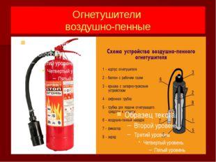 Огнетушители воздушно-пенные