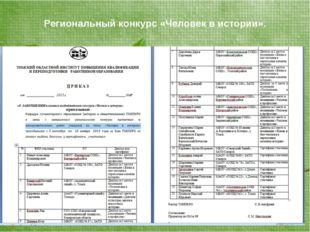 Региональный конкурс «Человек в истории».