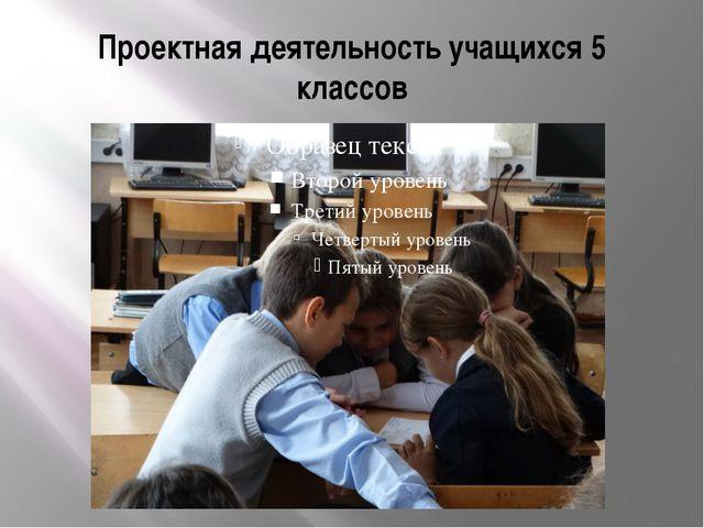 Проектная деятельность учащихся 5 классов