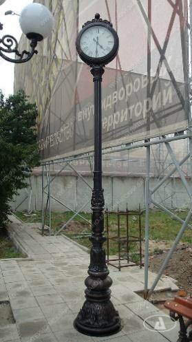 НЛМЗ - Каталог художественного литья - Чугунные литые фонари, изготовление - Литые уличные часы