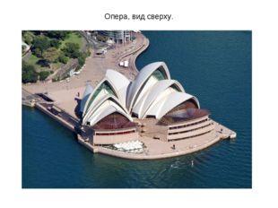 Опера, вид сверху.