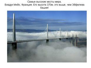 Самые высокие мосты мира. Виадук Мийо, Франция. Его высота 370м, это выше, че