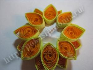 Цветы в вазе квиллинг