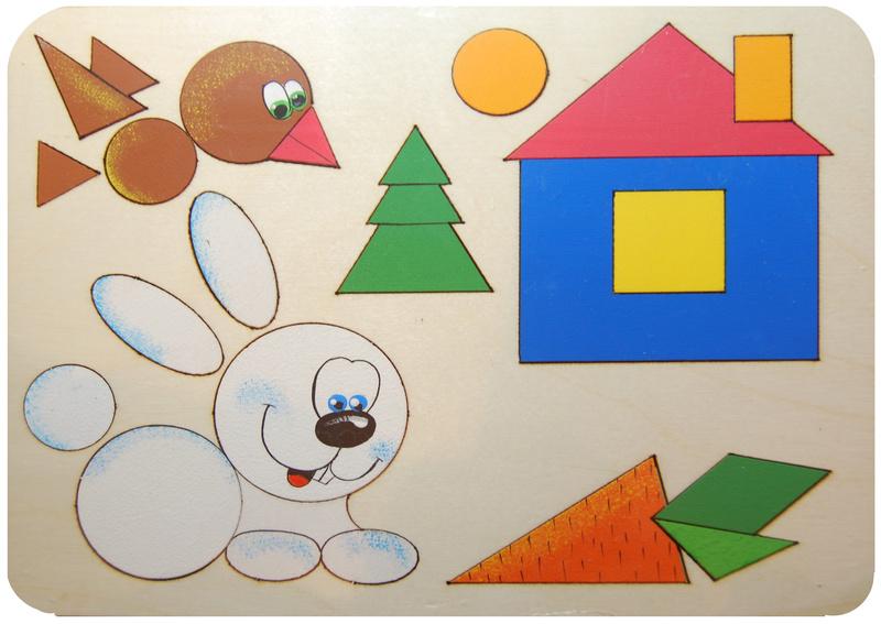 Рисунки из геометрических фигур в картинках 1 класс