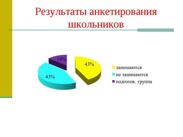 Результаты анкетирования школьников