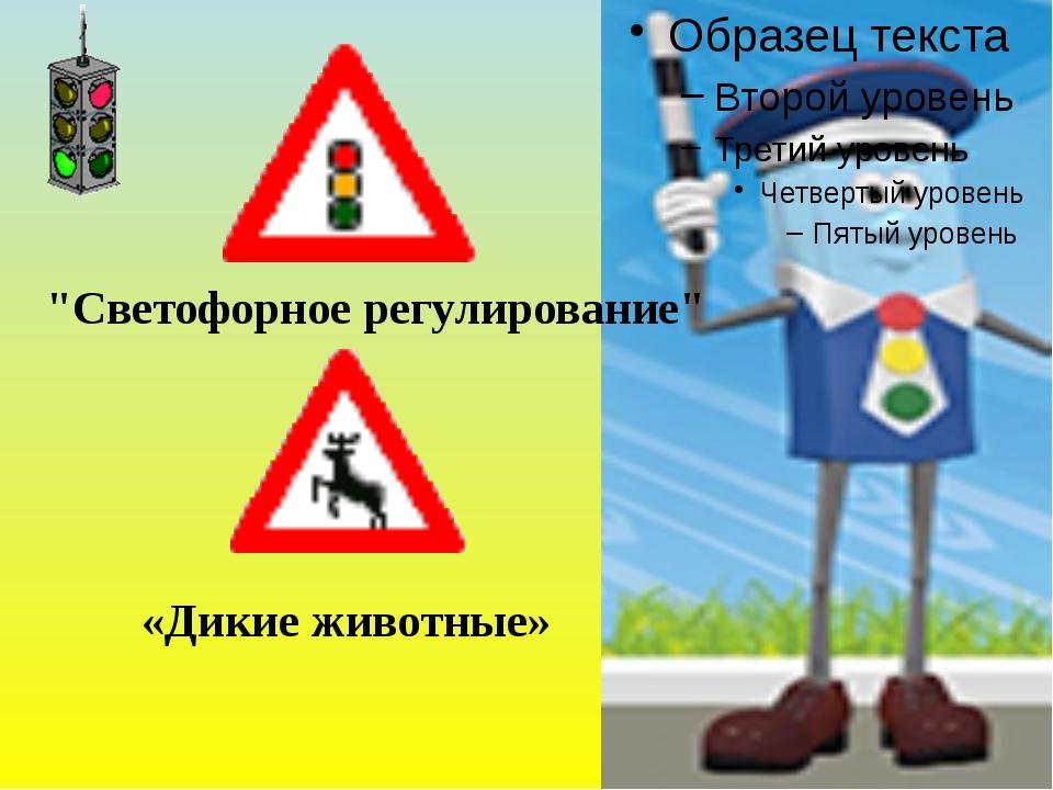 """""""Светофорное регулирование"""" «Дикие животные»"""