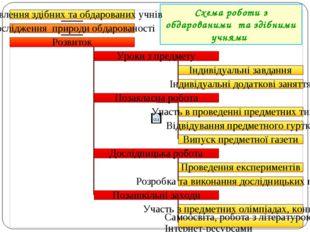 Схема роботи з обдарованими та здібними учнями