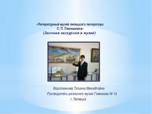 «Литературный музей липецкого литератора С. П. Панюшкина» (Заочная экскурсия