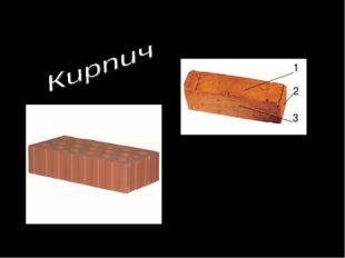 Многогранники в строительстве Поверхности кирпича 1 - ложок 2 - тычок 3 – пос