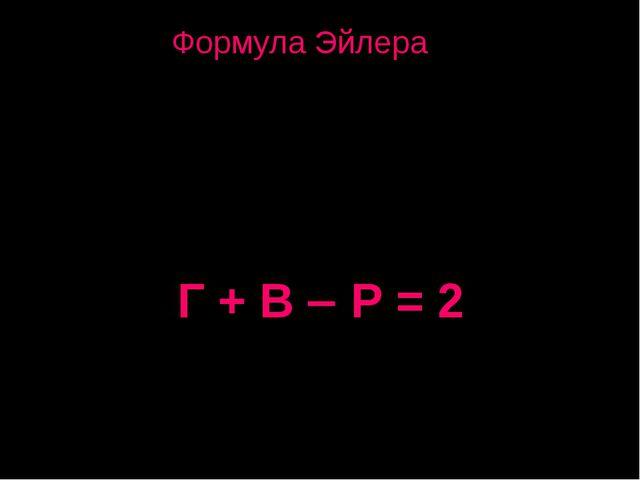 Число граней плюс число вершин минус число рёбер в любом многограннике равно...