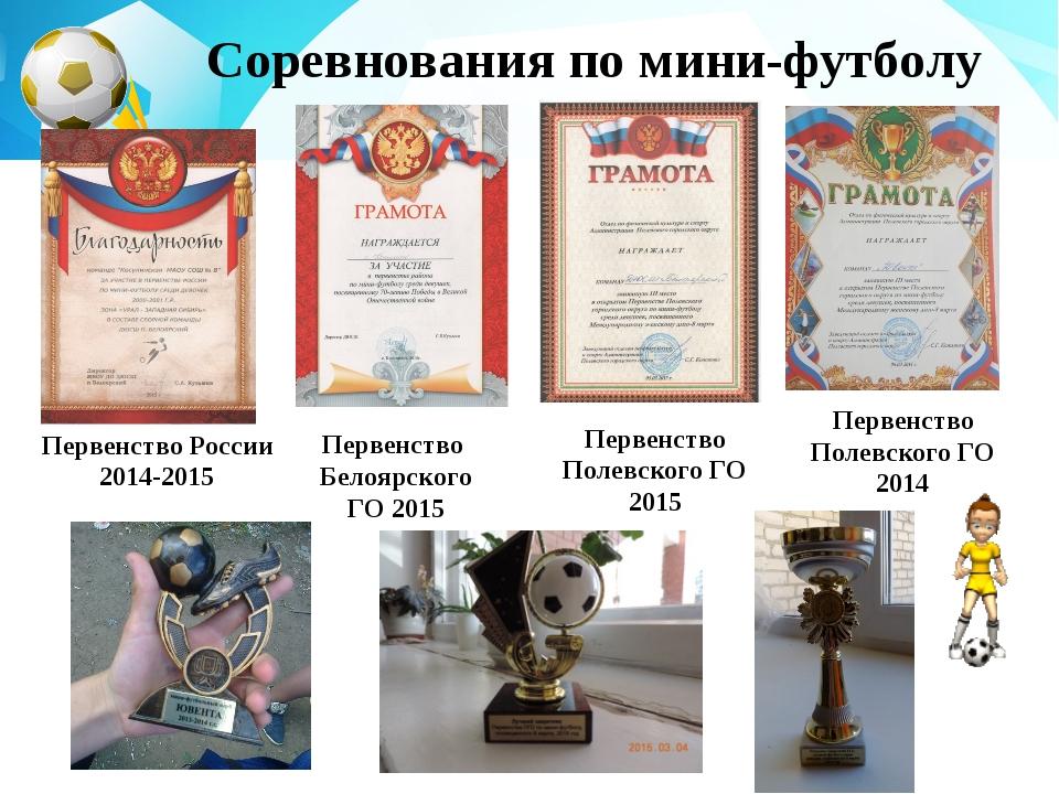 Первенство России 2014-2015 Первенство Белоярского ГО 2015 Первенство Полевск...