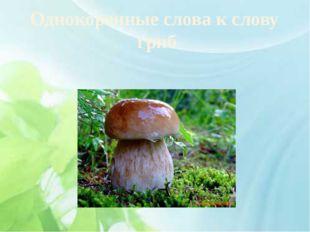 Однокоренные слова к слову гриб