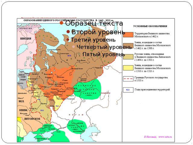Проанализируйте карту образования единого русского государства?