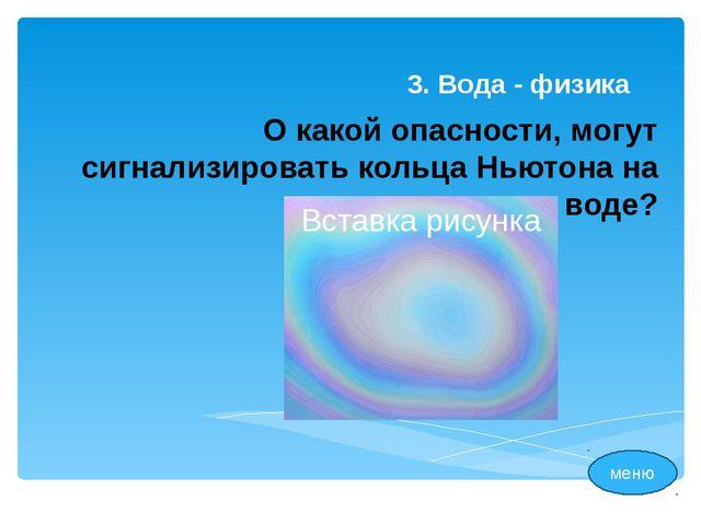 1. Вода – человек меню