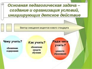Как учить? обновление средств обучения Ради чего учить? ценности образования Чем