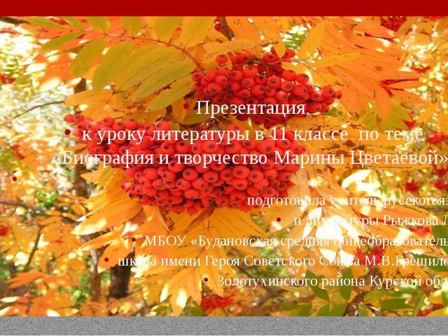 Презентация к уроку литературы в 11 классе по теме «Биография и творчество М...