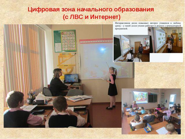 Цифровая зона начального образования (с ЛВС и Интернет)