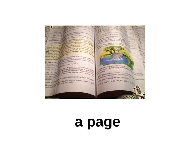 a page