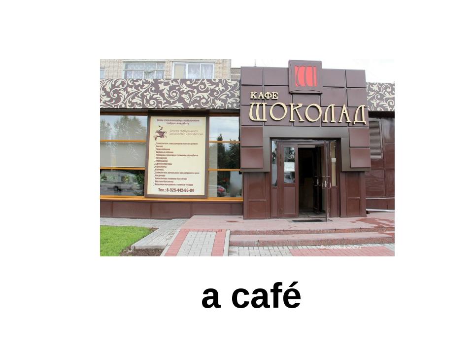 a café