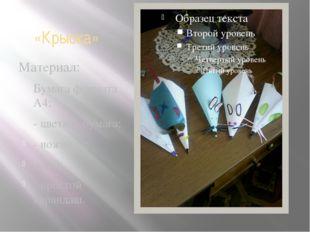 «Крыска» Материал: Бумага формата А4; - цветная бумага; - ножницы; клей; - пр