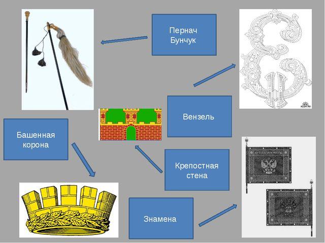 Пернач Бунчук Знамена Крепостная стена Башенная корона Вензель
