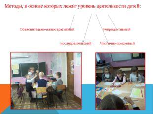 Методы, в основе которых лежит уровень деятельности детей: Объяснительно-иллю