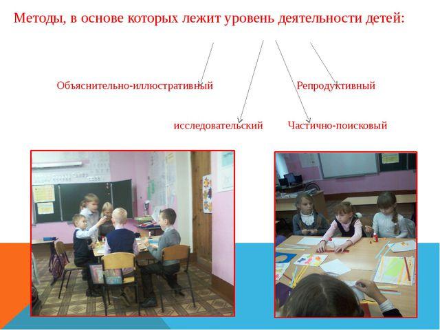 Методы, в основе которых лежит уровень деятельности детей: Объяснительно-иллю...