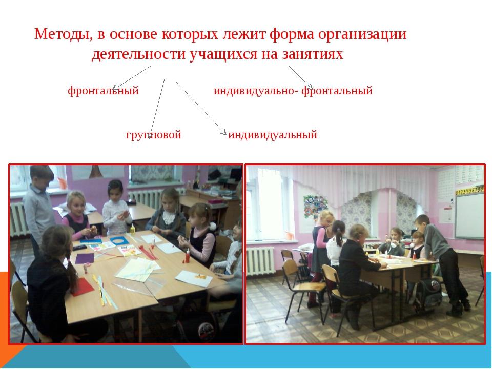 Методы, в основе которых лежит форма организации деятельности учащихся на зан...