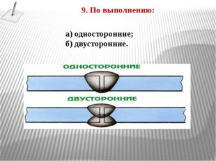 9. По выполнению: а) односторонние; б) двусторонние.